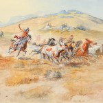 Charles M. Russell, Wild Horses (1900), watercolor, 20 x 29. Estimate: $800,000-1,200,000.
