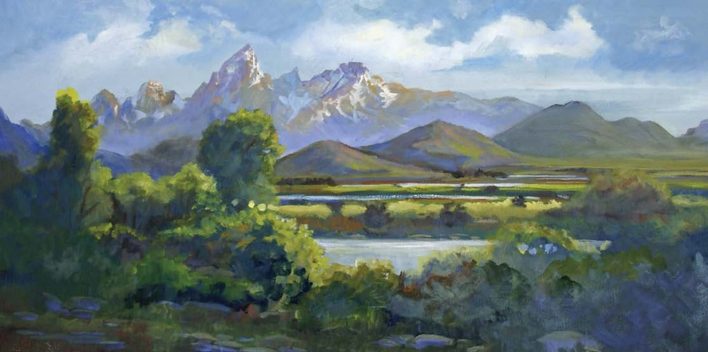 Snake River Valley, oil, 12 x 24.