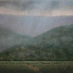 Nancy Bush, Showers in Maestas, oil, 30 x 36.