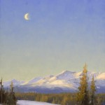 Stacey Peterson, Moon Over Mt. Massive, oil, 16 x 12.