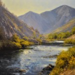 Stacey Peterson, South Platte Morning, oil, 22 x 28.