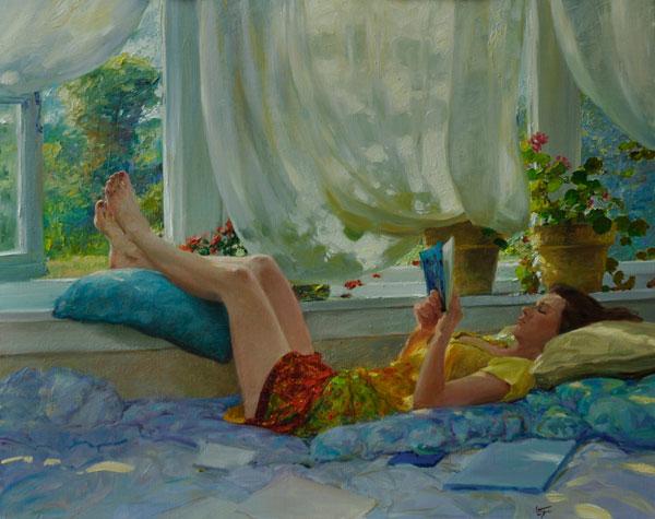 Summer Breeze, oil, 24 x 30.