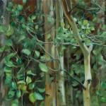 Brenda Hendrix, Suspended Moment, oil, 24 x 30.