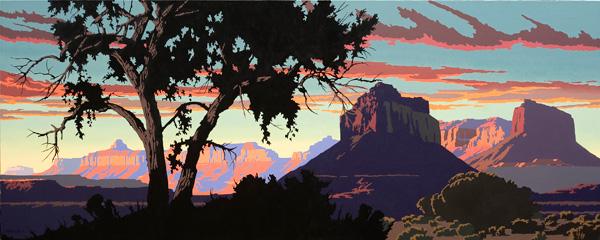 Bill Schenck, A River Runs Through It, oil, 30 x 75.