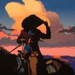 Bill Schenck, Adios mi Amigo, oil, 40 x 50.