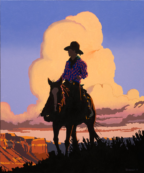 Bill Schenck, Looking for Sunsets, oil, 36 x 30.