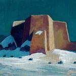 Elizabeth Sandia, Sacred Nocturne, oil, 9 x 10.