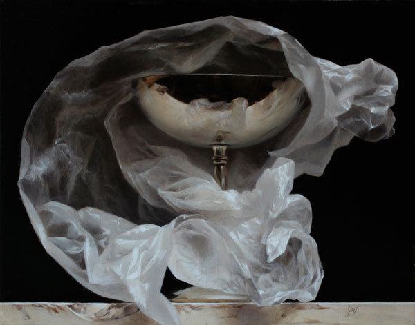 Wrapped Silver Goblet, oil, 11 x 14.
