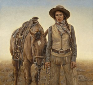 Carrie Ballantyne, Sagebrush and Silk, oil, 21 x 23.