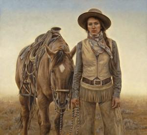 Carrie Ballantyne, Sagebrush and Silk, oil, 21 x 23.