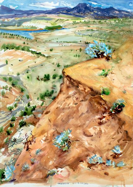 Ralph Nagel, Sagebrush, watercolor, 41 x 30.