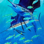 Guy Harvey, Sail Away, acrylic, 40 x 30.