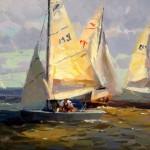 Calvin Liang, Sailing for Fun, oil, 12 x 16.