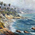 Anthony Salvo, Coastal View, Laguna Beach, oil, 11 x 14.