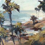 Anthony Salvo, Heisler Glow, Laguna Beach, oil, 8 x 16.
