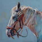 Sophy Brown, Samaritan, acrylic, 25 x 24.