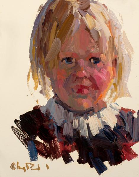 Gregory Packard, Sarah, oil, 14 x 11.