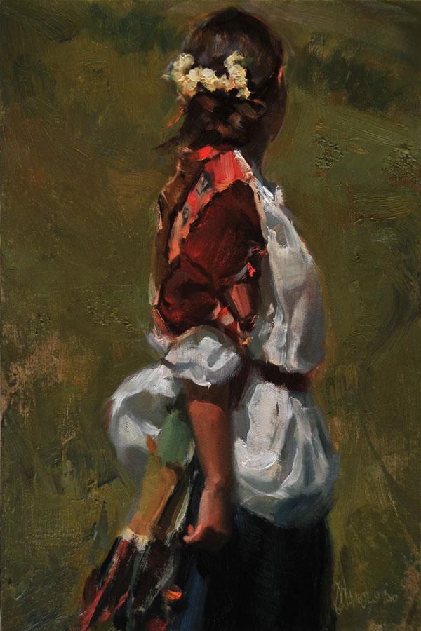 Johanna Harmon, Saunter, oil, 18 x 12.
