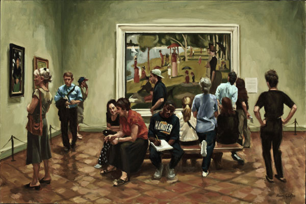 Savouring Seurat, oil, 24 x36.