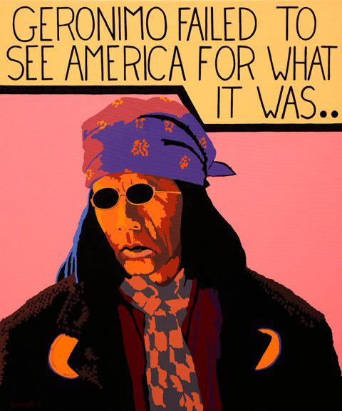 Bill Schenck, Geronimo, oil, 38 x 32.