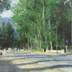 Richard Schmid, Taos Street, oil, 20 x 30. Estimated: $15,000-$20,000.