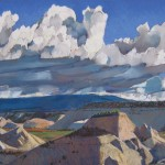 Scotty Mitchell, Incoming Storm, pastel landscape painting