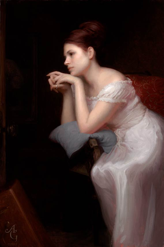 Adrian Gottlieb | Second Thoughts, oil, 36 x 24.
