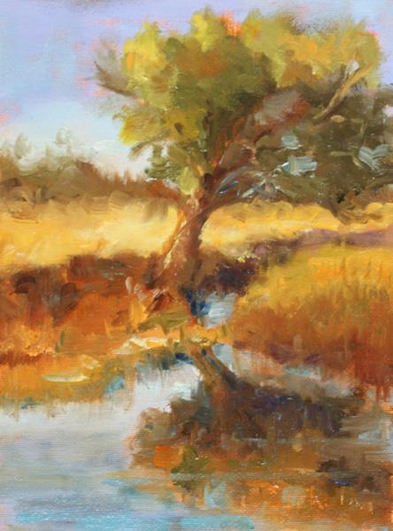 Gaye Sekula, Still Standing, oil, 8 x 6.