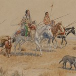 O.C. Seltzer, Indians Moving Camp, watercolor, 6 x 10. Estimate: $10,000-$15,000.