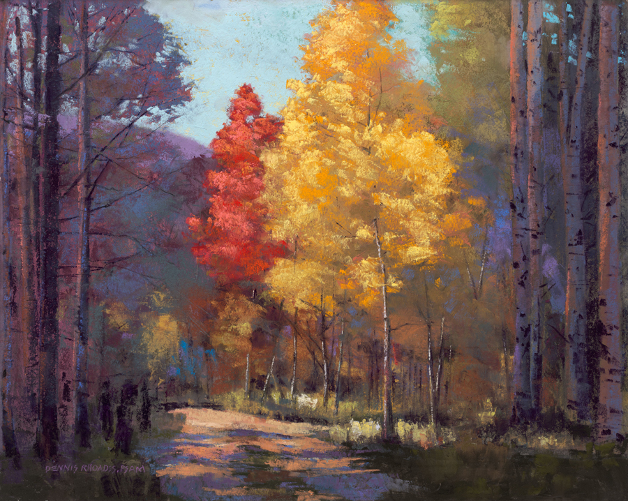 Dennis Rhoades, September Autumn, pastel, 16 x 20.