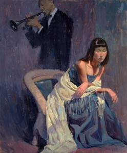 Eric Bowman, Serenade to a Debutante, oil, 24 x 20.