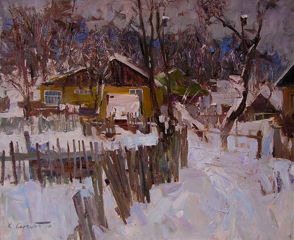 Sergay Kovalenko, Evening, oil, 20 x 24.