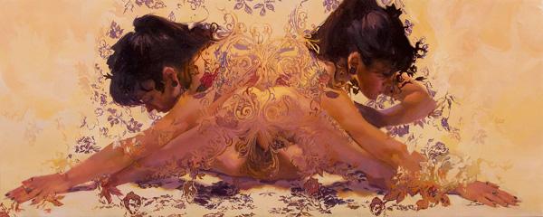 Sergio Lopez, Gemini Molineux, oil, 12 x 30.