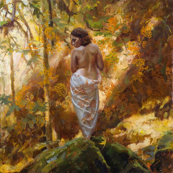 Sergio Lopez, Of the Wildland, oil, 10 x 10.