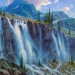 Jerry Markham, Seven Veils Falls, Lake O'Hara, oil, 48 x 60.