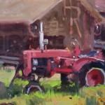 Randall Sexton, Farmall, oil, 12 x 16.