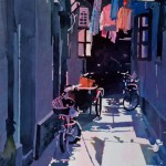 Mark Mehaffey, Shanghai Alley 2, watercolor painting