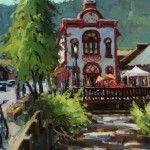 Shelby Keefe, Crested Butte City Hall, oil, 20 x 16.