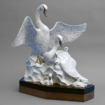 Gerald Balciar, Shelter of My Wings, bronze, 20 x 18 x 18.