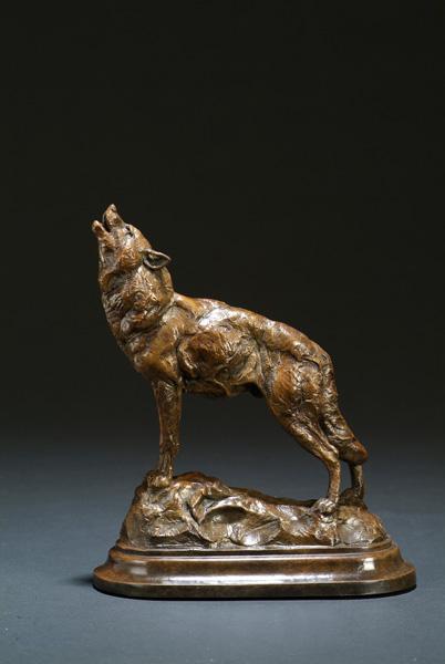 Tim Shinabarger, Hunter's Moon, bronze sculpture