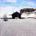 David Shingler, Cabin Kremming, Colorado, oil, 30 x 31.