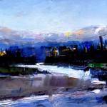 David Shingler, Sunset on the Snake River. Grand Teton National Park, oil, 8 x 10.