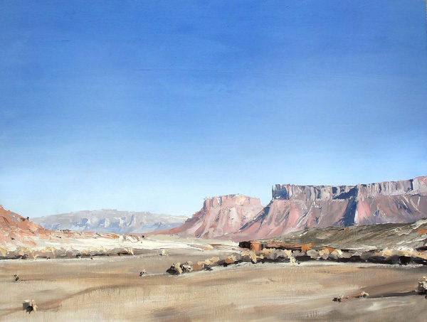 David Shingler, Utah Moab # 1, oil, 32 x 42.