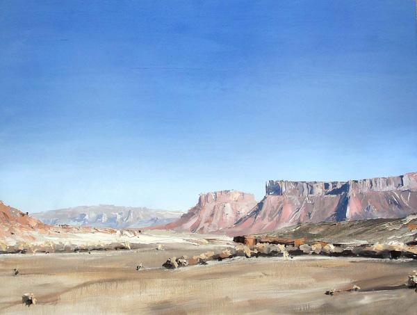 David Shingler, Utah Moab # 1, oil, 32 x 42.