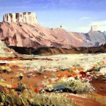 David Shingler, Utah Moab #2, oil, 21 x 27.