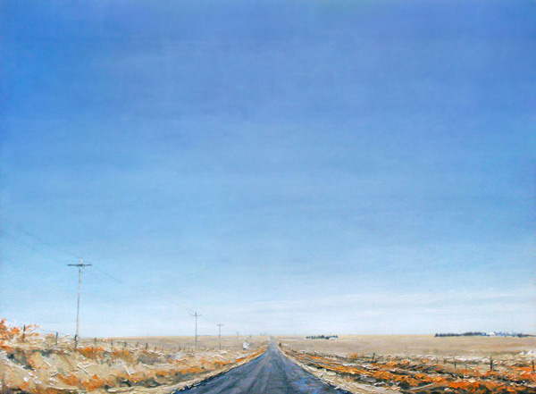 David Shingler, Western Plains, oil, 48 x 66.