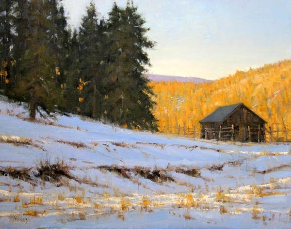 Carol Jenkins, Silver Spruce Ranch, oil, 24 x 30.