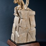 Doug Hyde, Singing with the Coyotes, Spanish marble, 31 x 16 x 16.