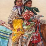 Ann Hanson, Sisters, oil, 24 x 18.