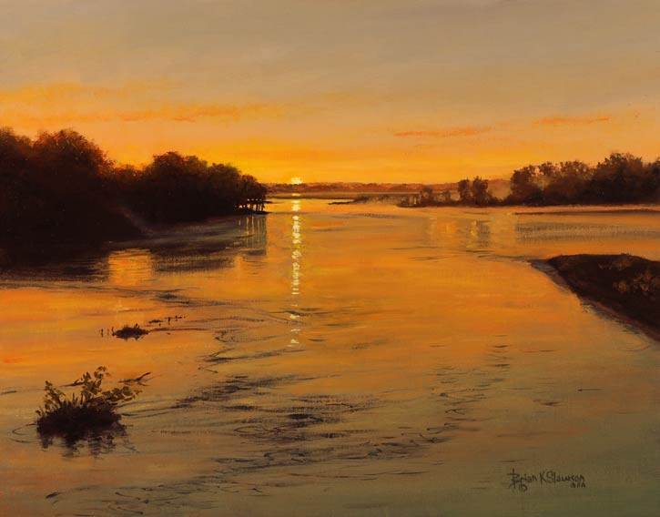 Brian Slawson | First Light, oil, 11 x 14.